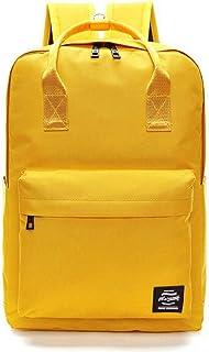Lady Boy Girls Backpack Women Preppy School Bags For Teenagers Men Oxford Travel Bags Girls Laptop Backpack Mochila (Yellow)