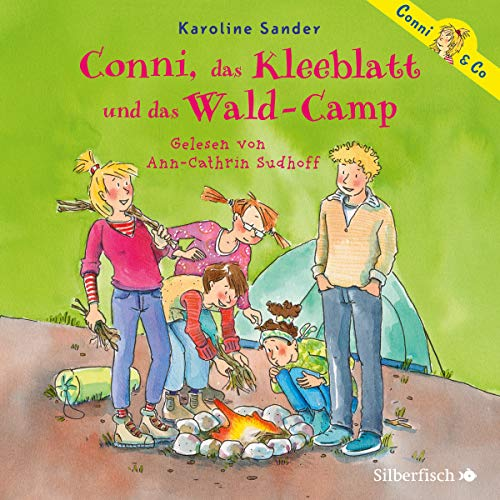 Conni, das Kleeblatt und das Wald-Camp audiobook cover art