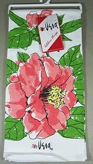 Vera Neumann Ladybug Kitchen Tea Towel, Pink Camellia Tropical