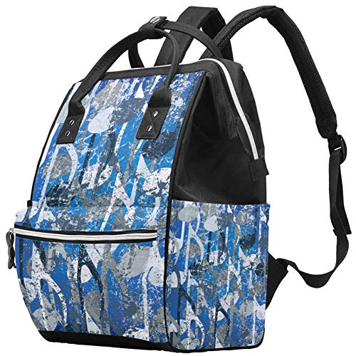Reisepass-Stempel, Wickeltasche, Mumien-Rucksack, große Kapazität, Wickeltasche, Stilltasche, Reisetasche für Babypflege