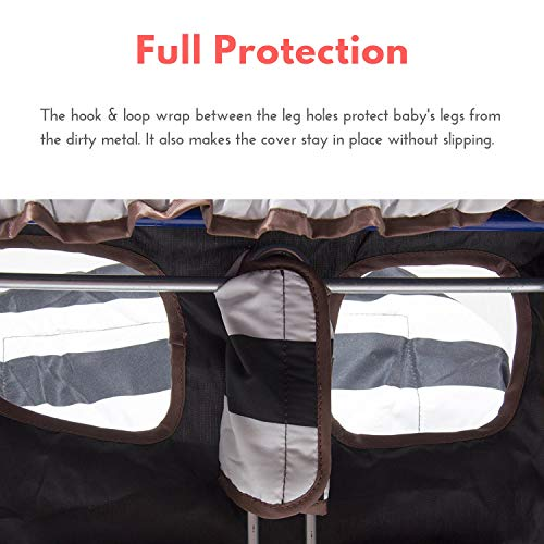 Lumiere Baby Shopping Cart Cover for Baby and Toddler - 2-in-1 Baby High Chair Cover | 360 Full Protection, Patented Roll-in Style Pouch, Universal Fit, Machine Washable. Great Gift Ideas for Mom