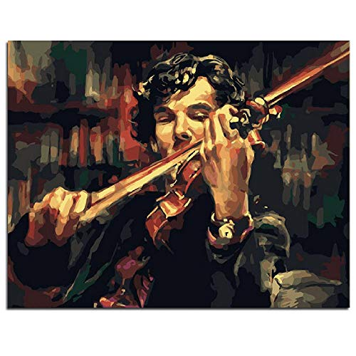 YDPTYANG Adults Wooden Puzzle 1000 Piece Sherlock Holmes Violin Abstract Style Children Leisure Creative Art Puzzles Games Toys Jigsaw