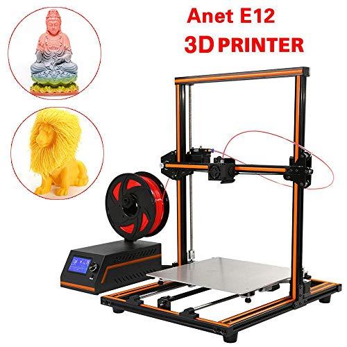 XIAODONGDONG E12 Kit d'imprimante 3D DIY 300 x 300 x 400 mm Affichage de l'écran LCD, Taille de l'impression en Aluminium, axe XY Z, 1,75 mm