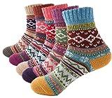 Macochoi Womens Vintage Winter Autumn Spring Warm Wool Ankle Athletic Socks for Women Wool...