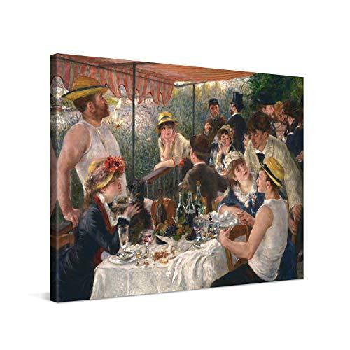 PICANOVA – Pierre-Auguste Renoir – Luncheon 80x60cm – Cuadro sobre Lienzo – Impresión En Lienzo Montado sobre Marco De Madera (2cm) – Disponible En Varios Tamaños – Colección Arte Clásico