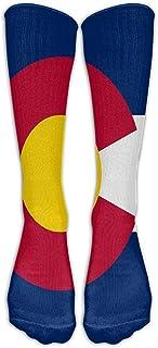 Calcetines de fútbol para jóvenes de Colorado Calcetines de fútbol hasta la rodilla para adolescentes Calcetines largos de rayas de tubo de rugby.