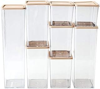 Lot 8 contenants Alimentaires Transparents,organisateurs Rangement Cuisine pour réfrigérateurs et armoires,boîtes Rangemen...