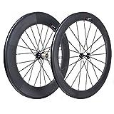VCYCLE 700C Vélo Route Carbone Paire Roues Avant 60mm Arrière 88mm Clincher 23mm Largeur Shimano ou Sram 8/9/10/11 Vitesse