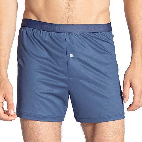 Calida 100% Nature Herren Boxershorts nachhaltige Unterhose aus 100% Tencel Lyocell, Blau (Vintage Indigo 457), Medium (Herstellergröße: M)