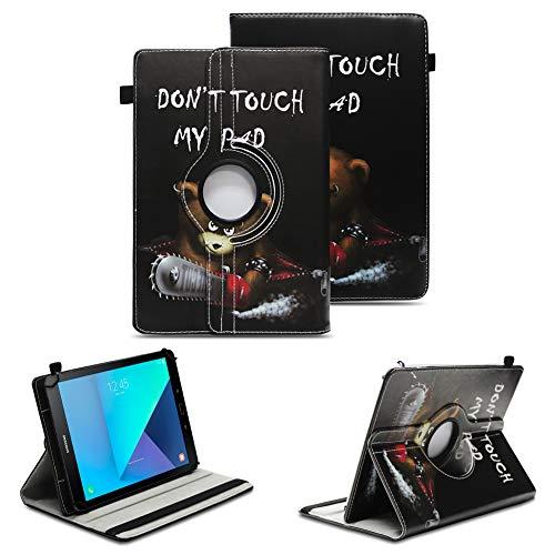 NAUC Tablet Schutzhülle kompatibel für Samsung Galaxy Tab S3 9.7 Tasche Tablettasche Hülle Standfunktion 360° drehbar hochwertige Kunst-Leder Cover Universal Tablethülle Hülle, Farben:Motiv 9