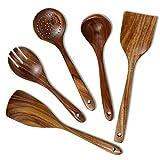 Wooden Utensils Set for Cooking, Chrider Wooden Kitchen...