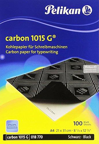 1015G Pelikan Schwarz Carbon Papier für Schreibmaschine–Box von 100Blatt
