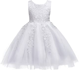 IBTOM CASTLE Flower Girls Dresses Princess Tulle Lace up Wedding Bridesmaid Pageant Baptism Party Baby Birthday Tutus Gowns