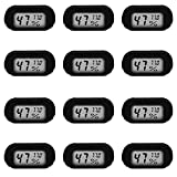 9. 12 Pack Mini Digital Electronic Thermometer Hygrometer, Indoor Thermometer, Hygrometer LCD Display Fahrenheit (Fahrenheit), Suitable for humidifiers, greenhouses, Gardens, basements
