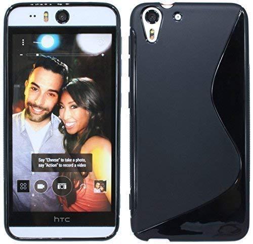 ENERGMiX Silikon Hülle kompatibel mit HTC Desire Eye Tasche Hülle Gummi Schutzhülle Zubehör in Schwarz