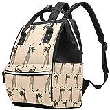 Bolsa de pañales con diseño de Gatos de Yoga, Gran Capacidad, Bolso de Mano de Lona para el Cuidado del bebé Multi09 27x19.8x36.5cm/10.6x7.8x14in
