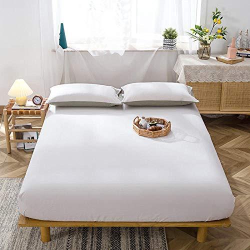 DBDA 1 Pieza Funda de colchón de algodón Puro Ropa de Cama King Size sábana Ajustable tamaño King Piel de Estilo Simple para Cama Doble-2 CW benbai_Los 90x200x15cm_China