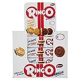 Pavesi Espositore Ringo, Biscotti Farciti con Crema al Gusto Vaniglia per Colazione o Gustoso Snack, senza Olio di Palma, Espositore con 24 Pezzi da 55 g, Totale: 1320 g