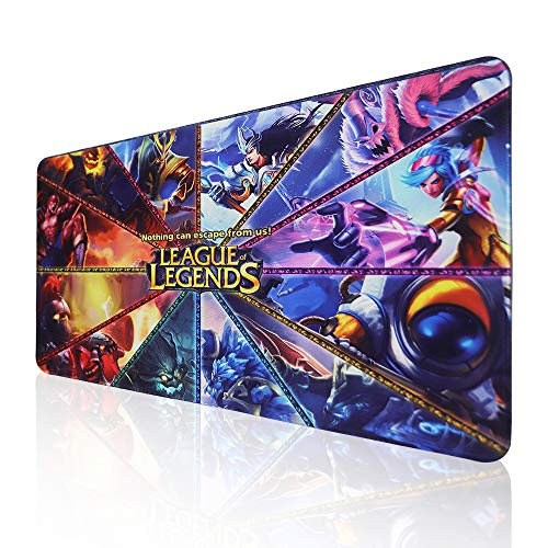 Extended Gaming Mouse Pad for League of Legends, Large Mousepad with Premium-Textured Cloth,Non-Slip Rubber Base,Mouse Mat for Gamer, Office & Home
