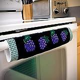 XSDepot Oven Door Handle Cover with Grape Design