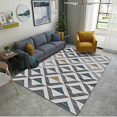 Insun Alfombra para Sala Estilo Escandinavo Elementos Geométricos Alfombra Antideslizante Lavable Estilo 11 80x120cm