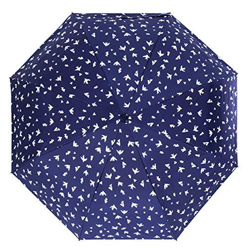 Paraplu Vouwen Paraplu's Vogel Zon Paraplu Regen Vrouwen Drie Vouwen Mannelijke Zon Paraplu Mannen