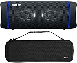 Sony SRSXB33 Extra BASS Bluetooth Wireless Portable Speaker (Black) with Knox Gear Hardshell Travel and Storage Case Bundle (2 Items)