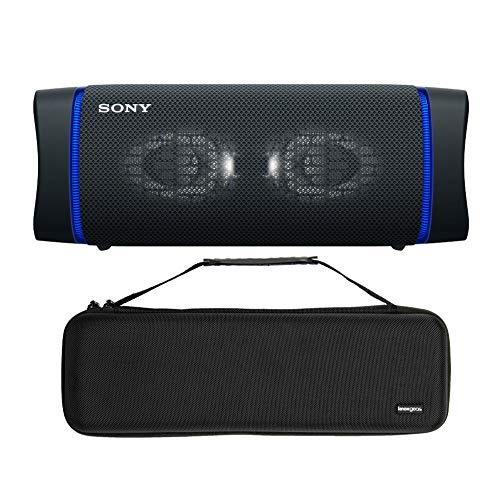 Sony SRSXB33 Extra BASS Bluetooth Wireless Portable Speaker (Black) with Knox Gear Hardshell Travel and Storage Case Bundle (2 Items)