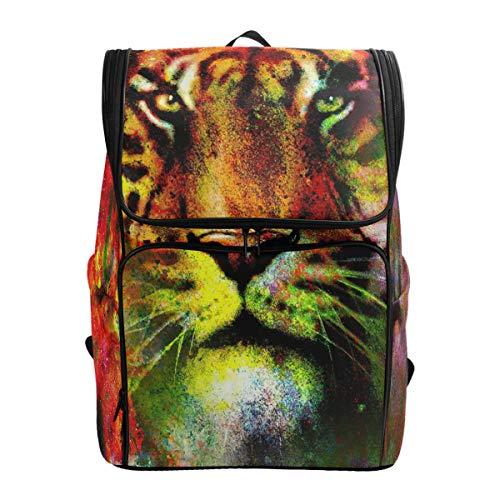 Mochila para el aire libre con diseño de tigre, estilo casual, para viajes, para hombres y mujeres, bolsa de deporte impermeable de gran capacidad, para adultos