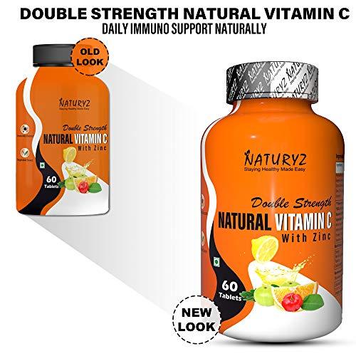 Naturyz Double Strength Natural Vitamin C and Zinc Supplement