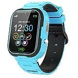 PTHTECHUS Smart Watch Reloj Inteligente para niños y niñas con cámara Divertida, Video, Llamadas SOS bidireccionales de 1,44 '' IPS HD, Pantalla táctil a Color, Juegos, Red 2G