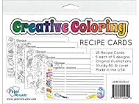 Creative Coloring Recipe Cards 4x6 25pc
