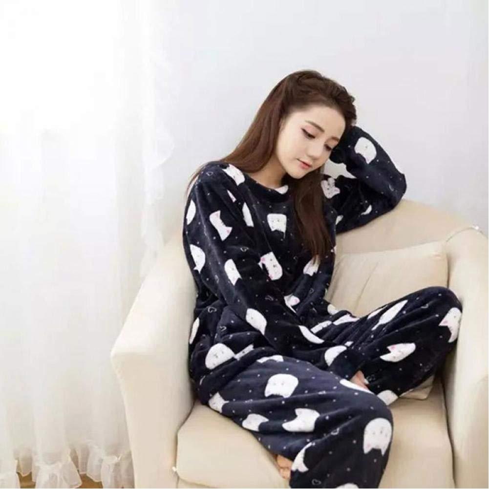 WEDFGX Pijamas de Invierno de Dos Piezas para Mujer, Conjunto ...