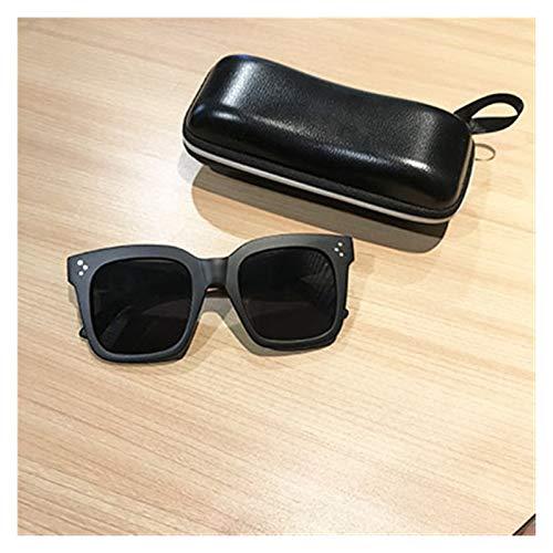 SSN Brille Männer Mode Retro Sonnenbrille Square Big Frame Ins Xiaohongshu Netto Prominenteähnlich Stil Sonnenbrille Flut (Farbe : A)