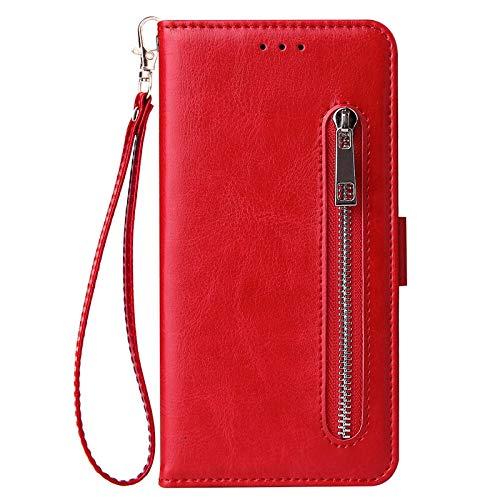 HHF Teléfono móvil Accesorios para Huawei Y5 Y6 Y7 Pro Primo p Inteligente Plus Y9 2019, la Cubierta del Caso de Cuero con Cremallera tirón de la Carpeta para Hawei Honor 8a 8c 8s 8X 9 10 Lite