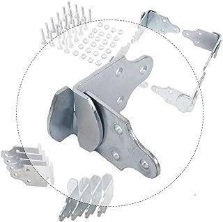 HEKA 8 PC Utility Trailer Wood Sides Latch Rack Stake Body Gates Corner Brackets with Screws
