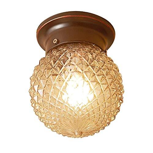 Zixin Semi-Flush Mount Decken Glühbirne Industrie Jahrgang StyleWall Lampe for Flur Study Room Büro Schlafzimmer Dekoration Vanity Leuchten Hängeleuchte Fixture