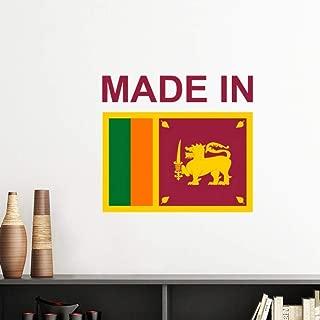 DIYthinker Made in Sri Lanka Country Love Vinyl Wall Sticker Wallpaper Room Decal