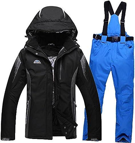 YFF Combinaison de Ski en Plein air Chaud skiwear Vestes imperméables et Pantalons épais