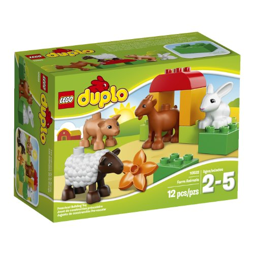LEGO Duplo Bauernhof Tiere–Konstruktion Spiele (Multicolor, 2Jahr (S), 12Pc (S), Junge/Mädchen, 5Jahre (S), Duplo)