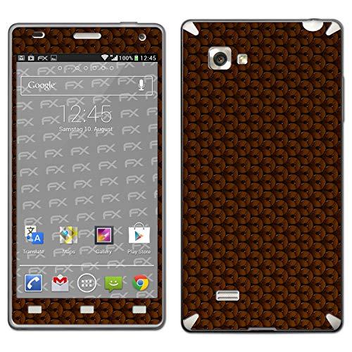 atFolix Skin kompatibel mit LG Optimus 4X HD P880, Designfolie Sticker (FX-Honeycomb-Brown), Waben-Struktur/Honigwabe