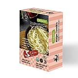 YUHO Organic Shirataki Konjac Pasta Variety 8 Pack Inside, Vegan, Low Calorie Food, Fat Free, Keto Friendly, Zero Carbs, Healthy Diet Pasta 53.61 Oz, 4 Noodles, 4 Fettuccine