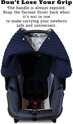 Car Seat Canopy and Nursing Cover Up with Peekaboo Opening - Arrow Navy