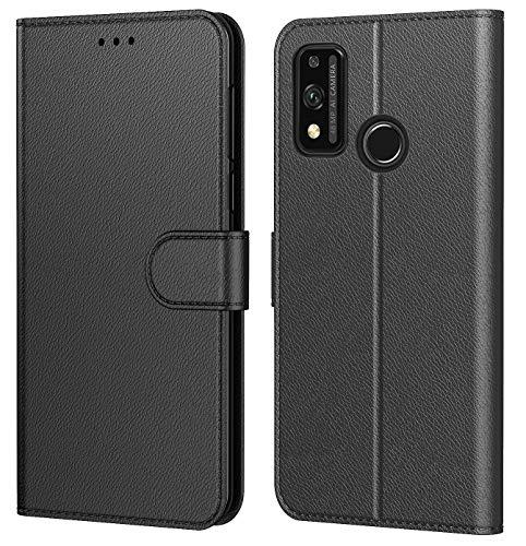 Tenphone Etui Coque pour Huawei Honor 9X Lite 2020,Plusieurs Couleurs Disponible,Protection Etui Housse Premium en Cuir PU,Fermeture Magnétique pour (Honor 9X Lite (6,5 Pouces), Book Noir)