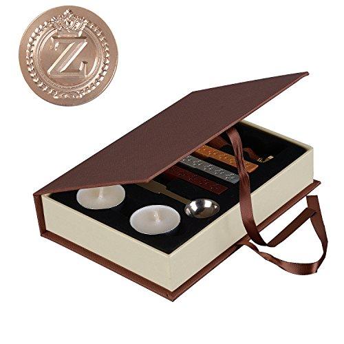 i-mart Vintage Krone Buchstabe Wachs Siegel Stempel Sticks Schmelzend Löffel Kerzen Set Siegelwachs Z