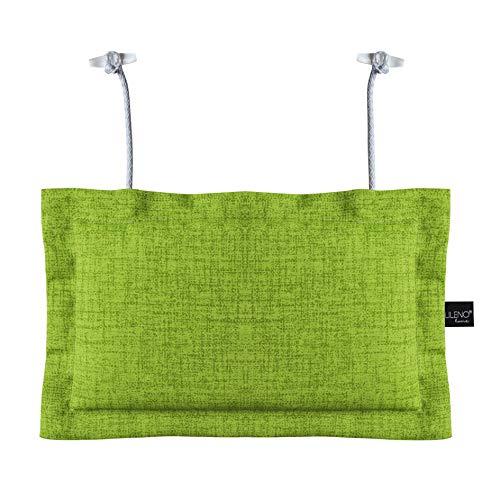 LILENO HOME Palettenkissen Set Apfelgrün - Deko-Kopfkissen 22x35 cm - Polster für Europaletten - Palettenkissen Outdoor als Sitzkissen für Palettenmöbel