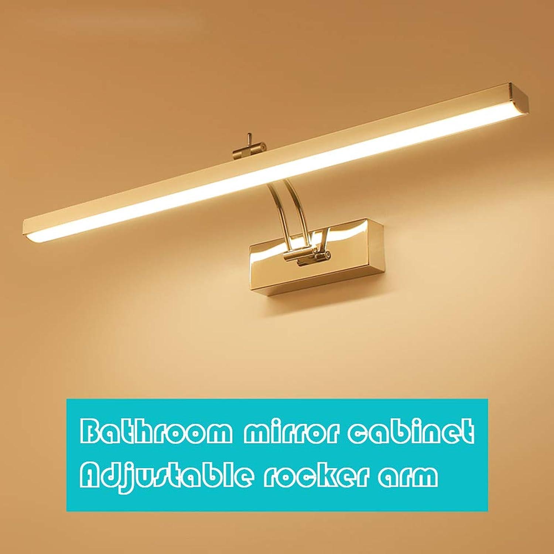 FCX-LIGHT Led Spiegelleuchte Badleuchte Schranklampe Wandleuchte Aus Edelstahl Badezimmerlampe Badlampe Einstellbar Spiegel Wand Schminklicht,Weiß,8W40CM