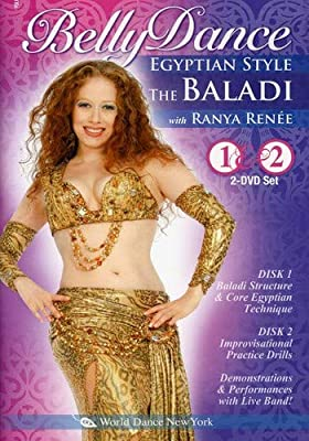 The Baladi: Bellydance Egyptian Style, with Ranya Ren?e (TWO-DVD SET): Open level traditional Egyptian style belly dance classes, Arabic-style belly dance instruction, Egyptian bellydancing how-to