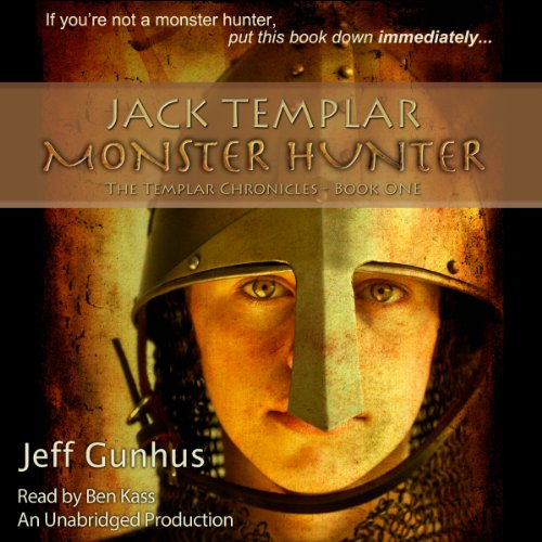 Jack Templar Monster Hunter audiobook cover art