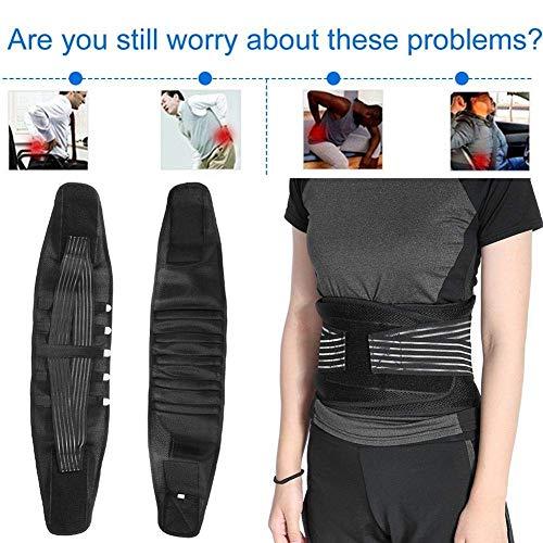 TV-Z Faja Lumbar Fitness, Cinturón para Cintura/Espalda/Lumbar protección y Soporte, cinturón de Culturismo/Halterofilia, Entrenamiento, Seguridad en el Trabajo y Postura.(S,M,L)